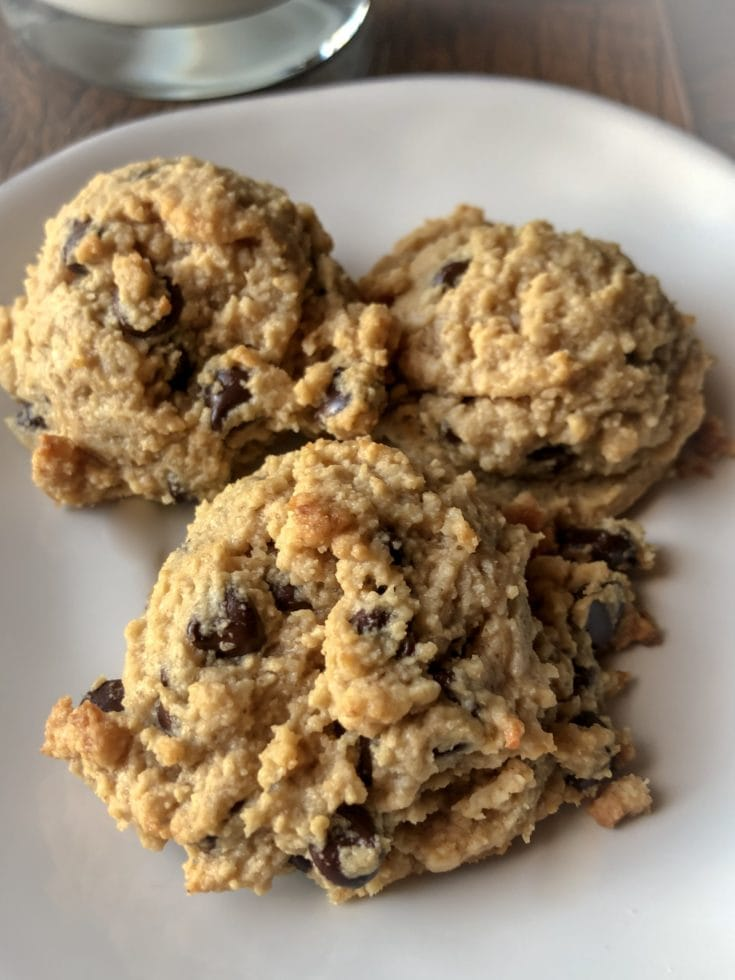 """""""Oatmeal"""" Peanut Butter Chocolate Chip Cookies"""