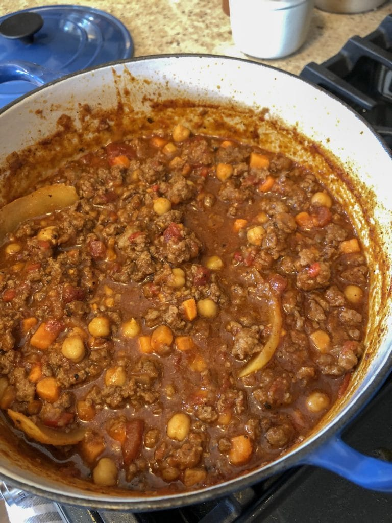 Moroccan Lamb chili