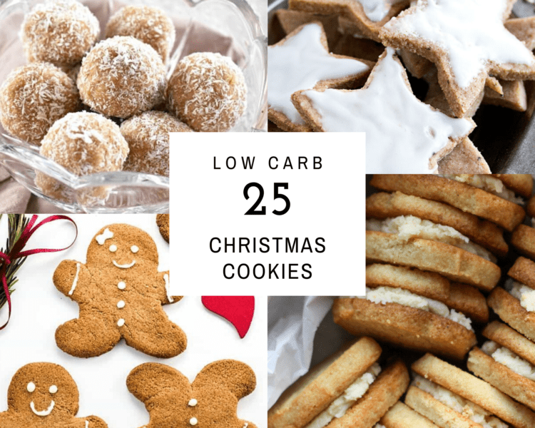 25 low carb keto christmas cookie collage