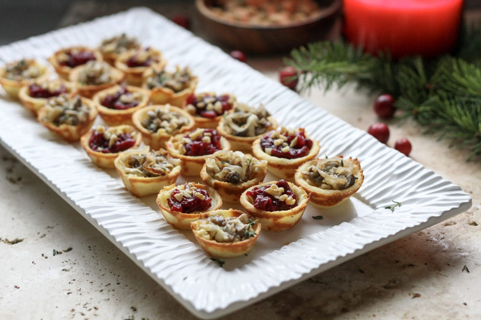 brie bites on a white plate