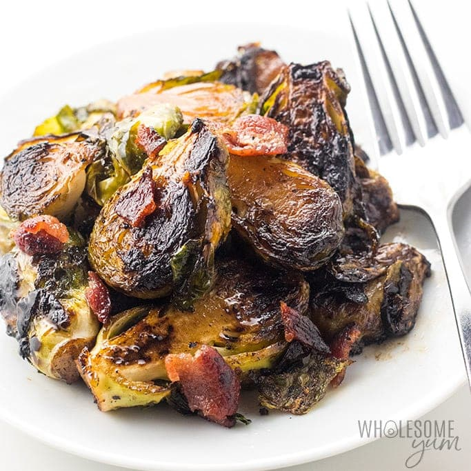 Crispy Pan Fried Brussels Sprouts