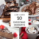 christmas dessert collage