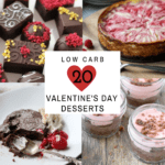 valentines day desserts collage
