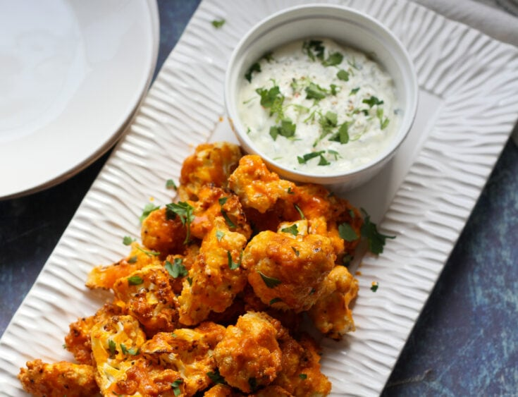 air fryer keto buffalo cauliflower wings