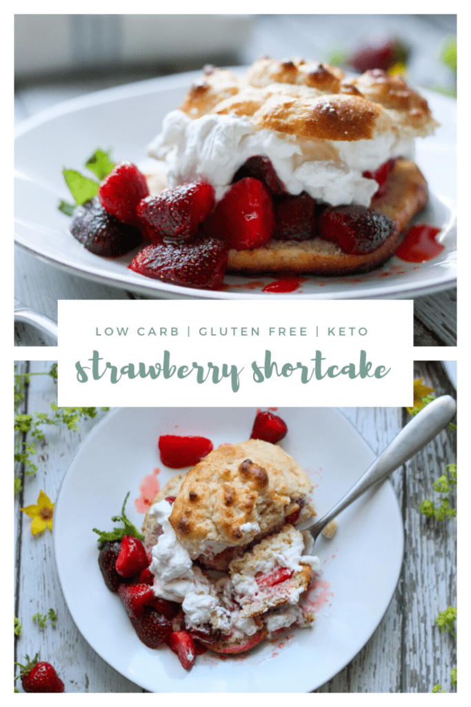 keto low carb strawberry shortcake