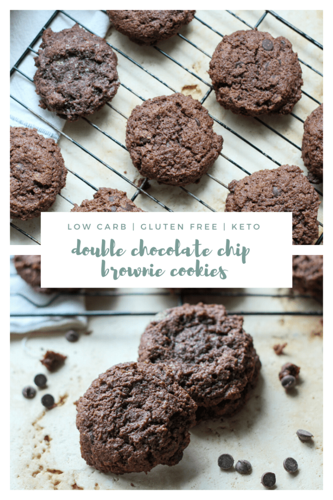 Keto Low Carb Double Chocolate Chip Brownie Cookies