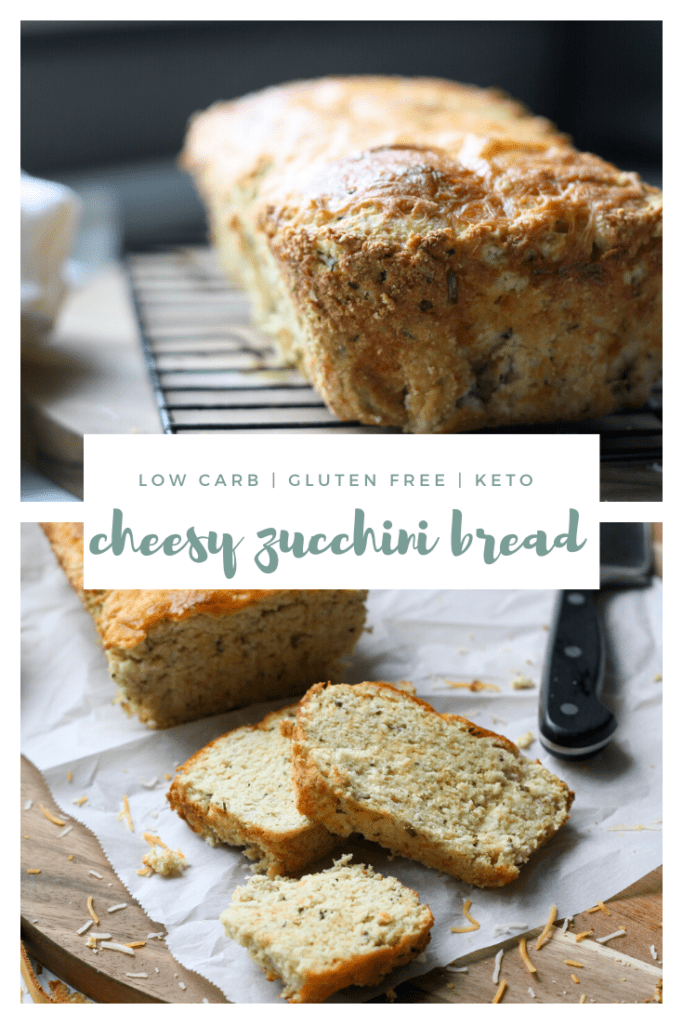 keto low carb gluten-free cheesy zucchini bread