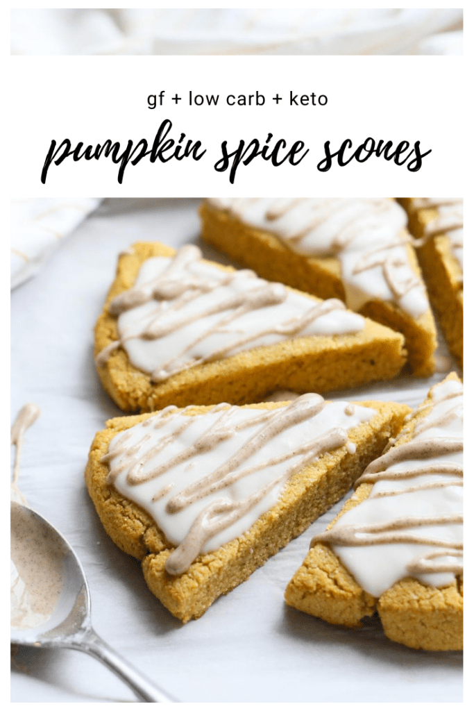 keto low carb pumpkin spice scones